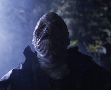 Einer der Fisch-Mutanten aus Mutant River - Blutiger Alptraum nimmt gerade eine Fährte auf.