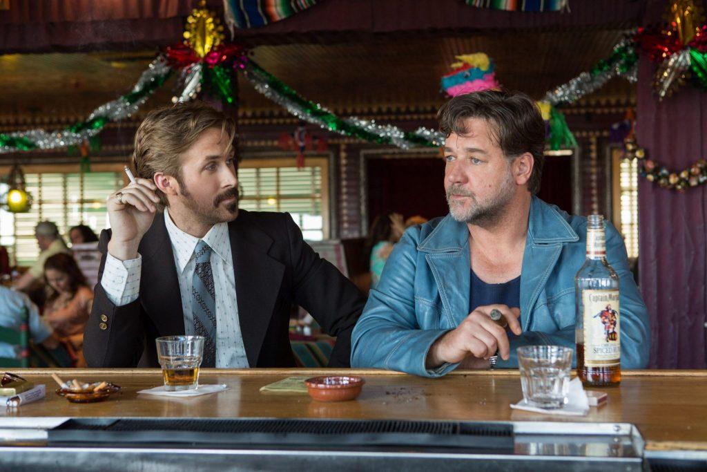 Ryan Gosling und Russell Crow geben in The Nice Guys ein ungleiches Paar ab © Concorde Home Entertainment