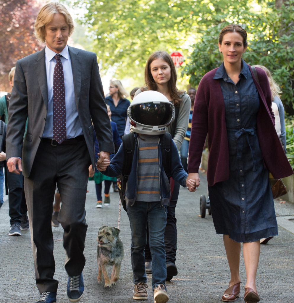 Nate (Owen Wilson), Auggie (Jacob Tremblay), Via (Izabela Vidovic) und Isabel (Julia Roberts).