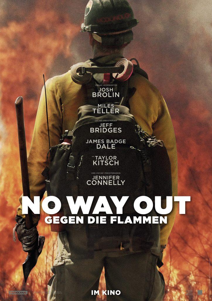 """Filmplakat von """"No way out - Gegen die Flammen"""" ©StudioCanal"""