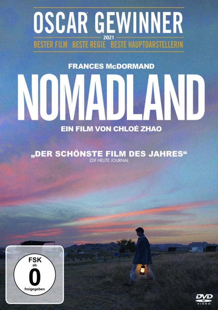 Das DVD Cover von Nomadland mit FSK 0 Aufkleber