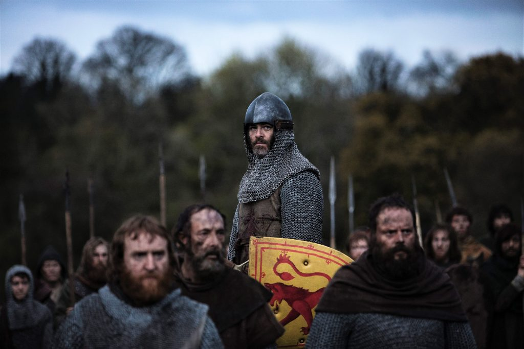 Chris Pine als Robert the Bruce in Outlaw King. © Netflix