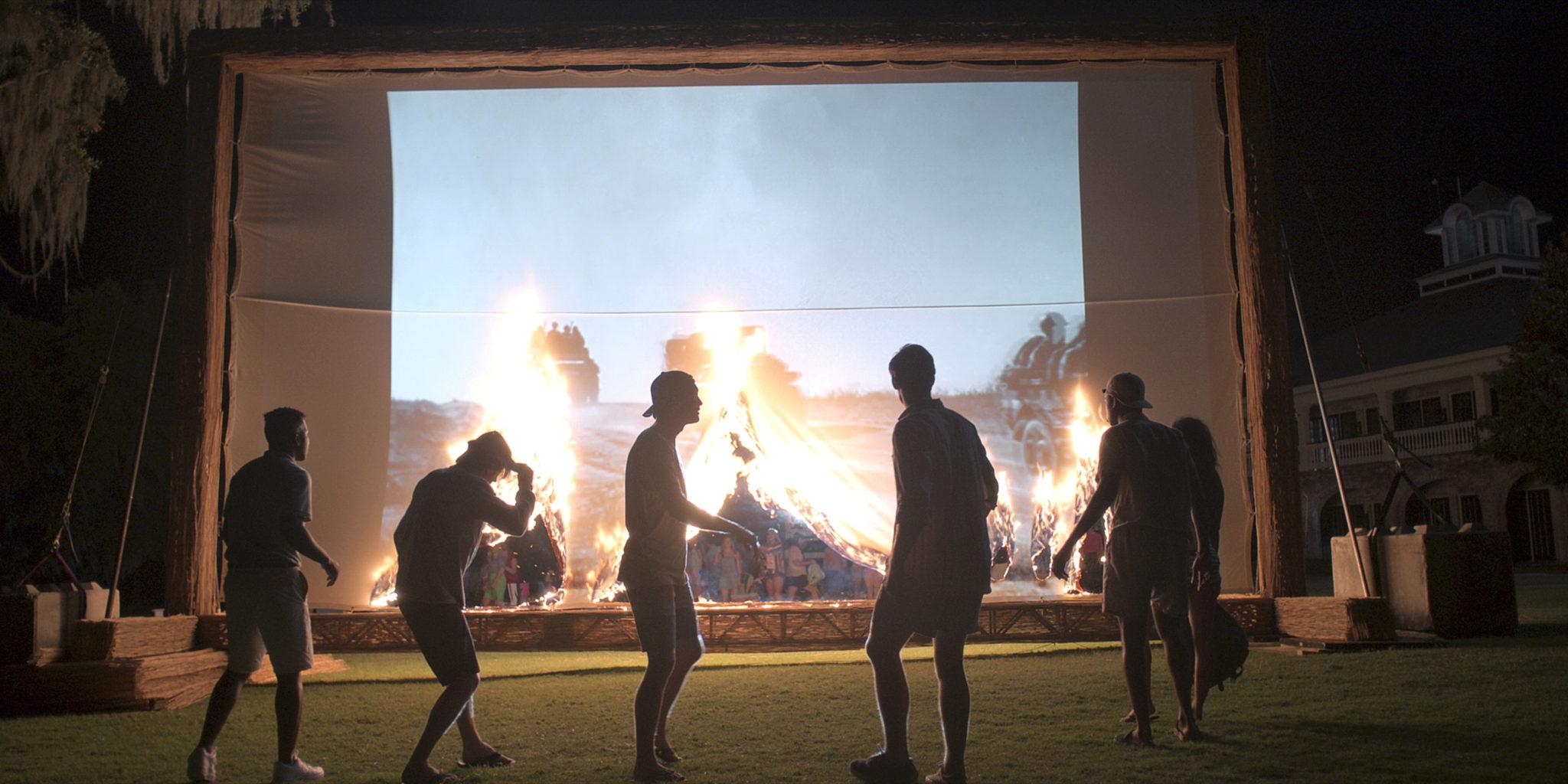 Ein Kinoabend unter freiem Himmel in Outer Banks