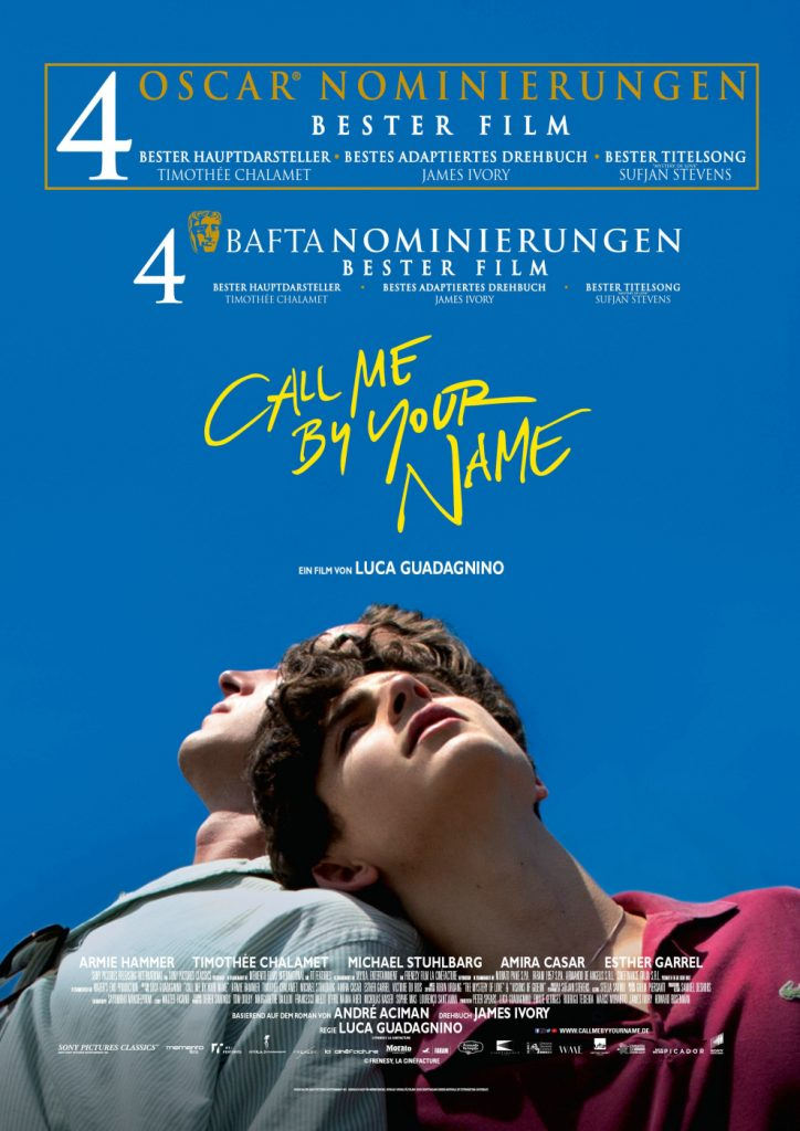 Cover zu Call Me By Your Name mit Armie Hammer und Timothée Chalamet
