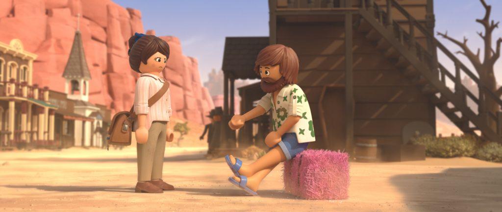 In der Playmobil-Welt trifft Marla (links) auf Del (rechts) © Concorde Filmverleih