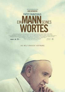"""Offizielles Filmplakat von """"Papst Franziskus - Ein Mann seines Wortes"""" © Universal Pictures"""