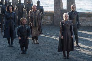 Peter Dinklage und Emilia Clarke in Game of Thrones Staffel 7 aus 2015