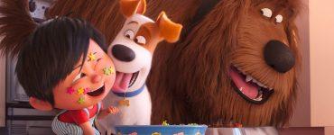 Max und Duke kümmern sich um Liam in Pets 2 © Illumination Entertainment and Universal Pictures