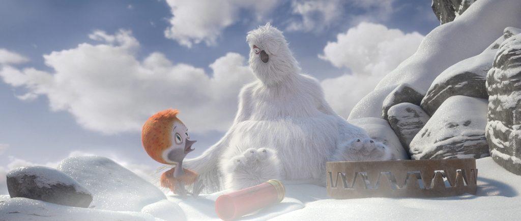 Ploey lernt das Schneehuhn Giron kennen in Ploey - Du fliegst niemals allein © 2019 Koch Films