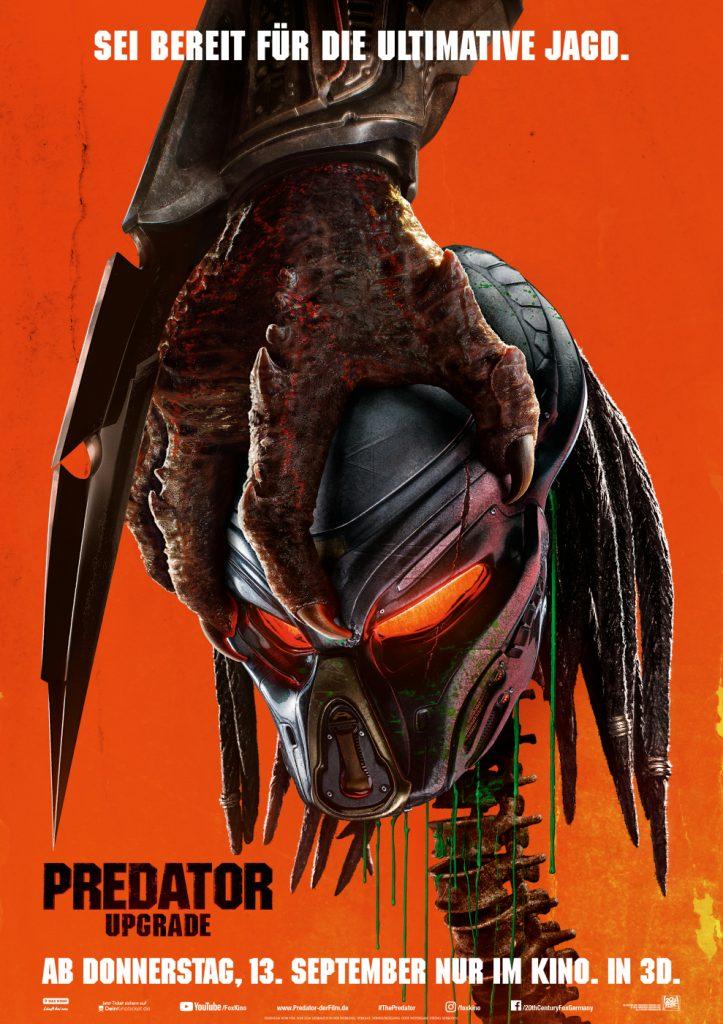 Das offizielle Kinoplakat von Predator - Upgrade. © Twentieth Century Fox