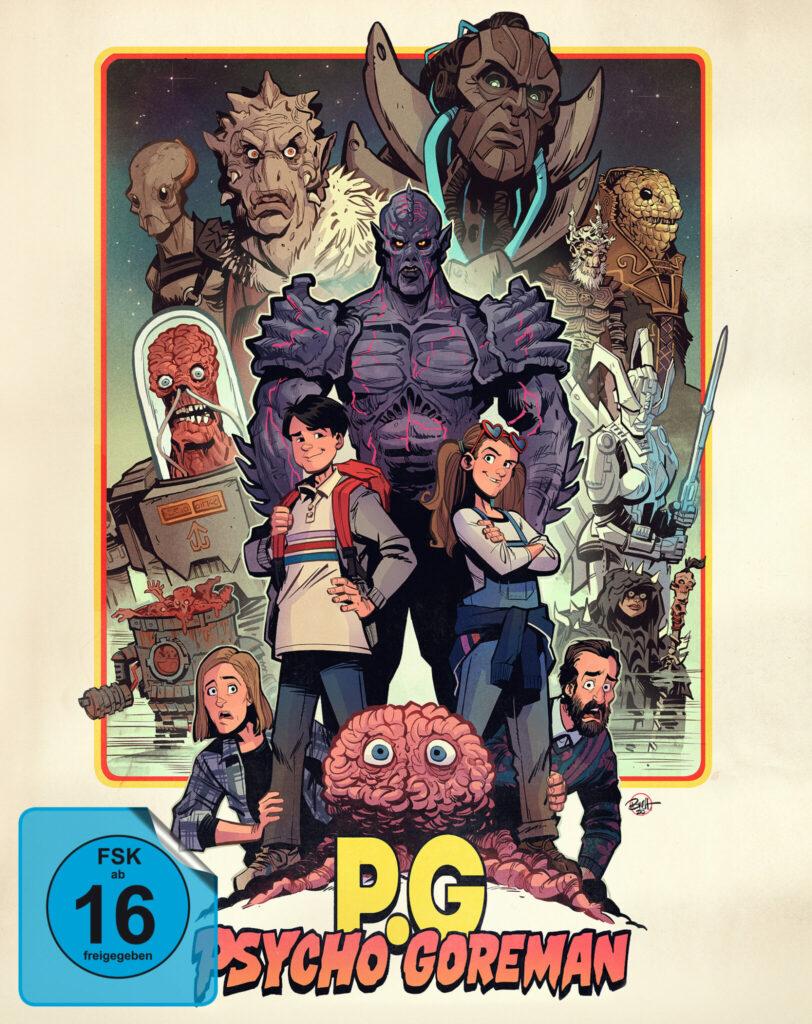 Das Cover des Mediabooks von Psycho Goreman mit FSK 16 Sticker