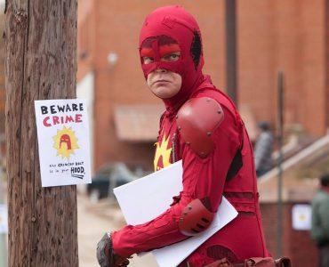 Rainn Wilson als Frank und Superheld 'Der Blutrote Blitz' in Super - Shut up, Crime! (2010) ©Koch Films