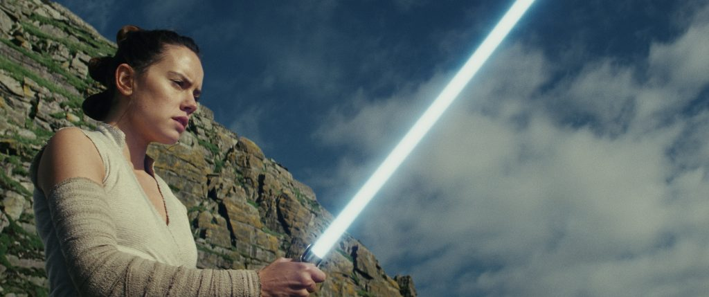Rey (Daisy Ridley) in Star Wars - Die letzten Jedi von 2017