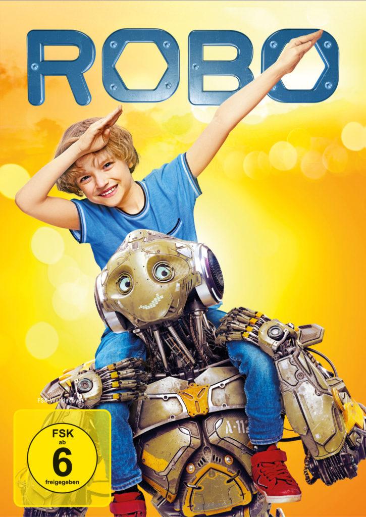 Auf dem Cover von Robo sitzt der Junge Mitya auf den Schulter von Titelheld Robo.