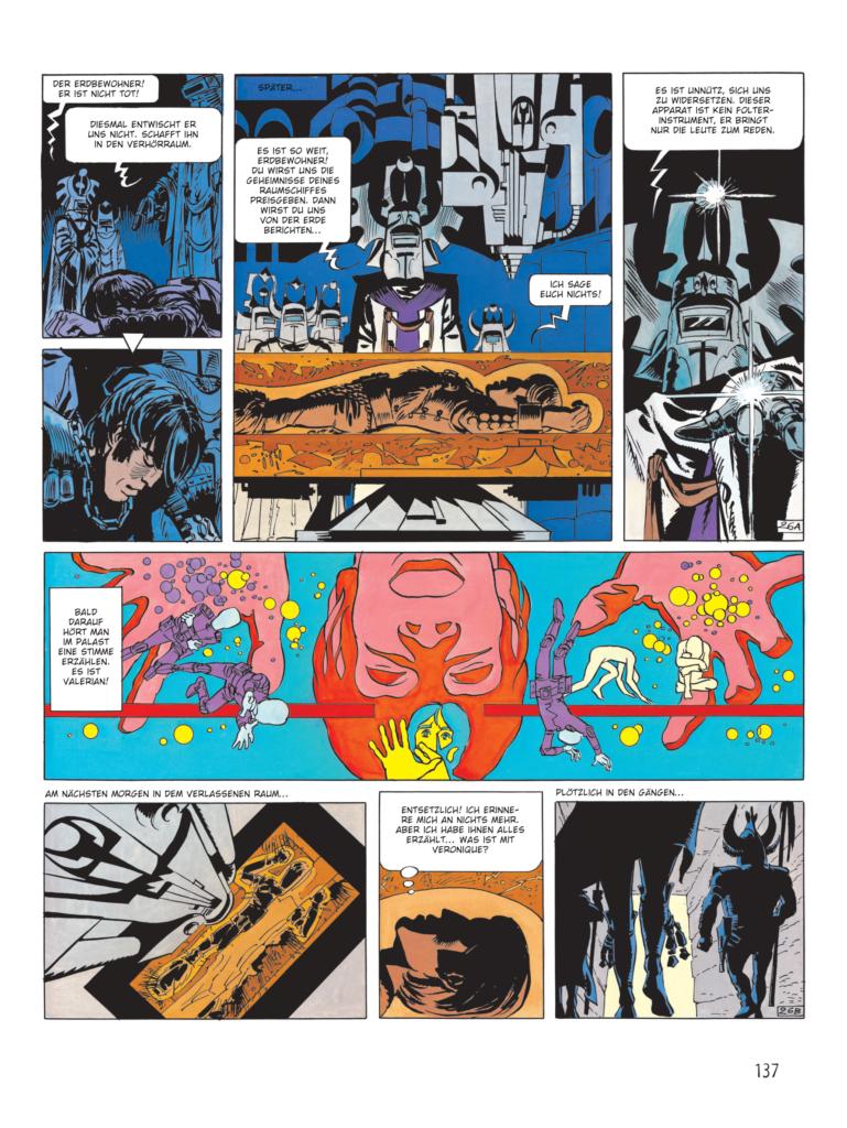 Valerian wird über die Geheimnisse seines Raumschiffs ausgefragt - auch hier erkennen wir Einflüsse auf Star Wars