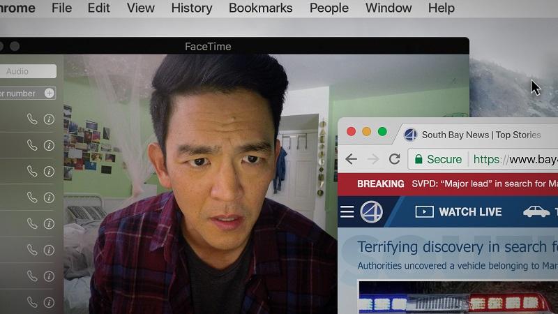 Hinter all den aufgepoppten Windows und Browserverläufen sieht John Cho ziemlich verloren aus - Neu auf Netflix im August 2020