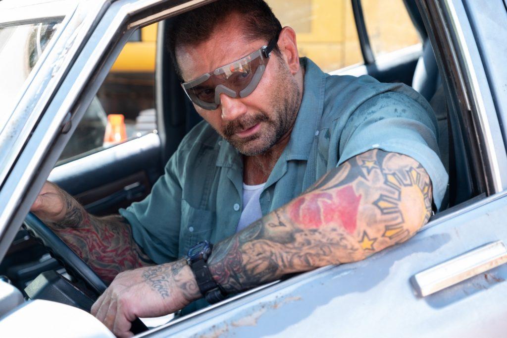 Vic Manning (Dave Bautista) in seinem Auto, Stuber - 5 Sterne Undercover