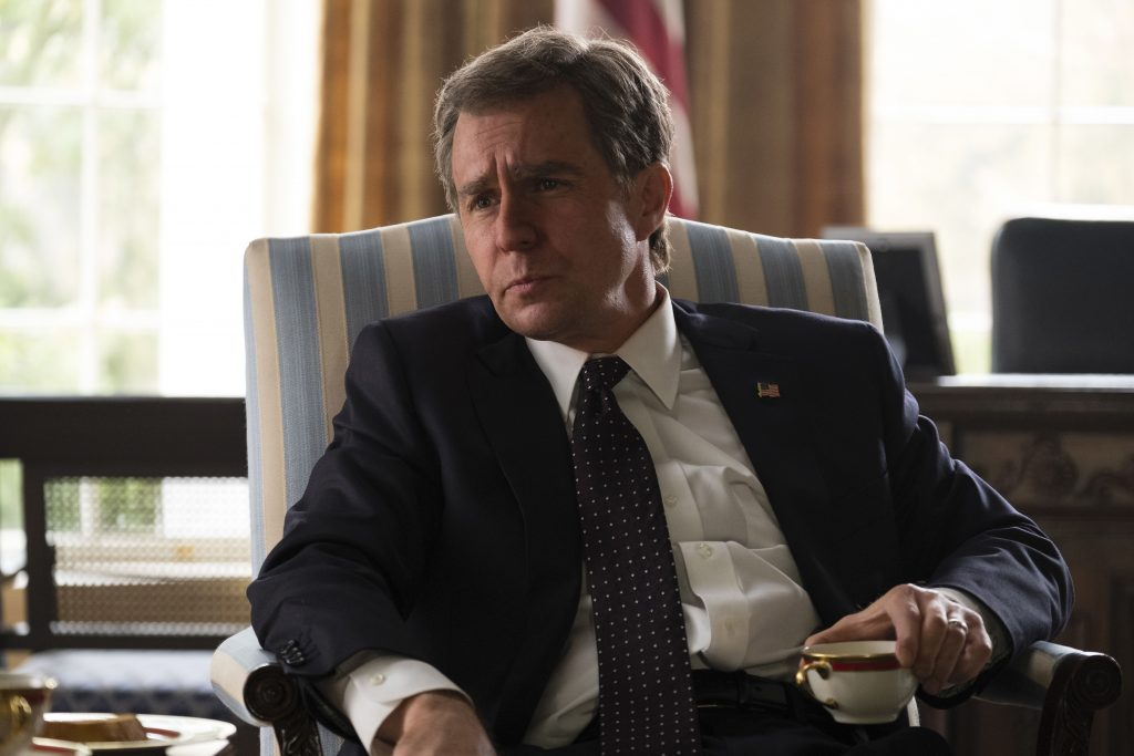 Sam Rockwell als George W. Bush in Vice - Der zweite Mann @ 2018 Universum Film