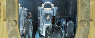 Ein Blick aus der Cryo-Kammer auf einige Wissenschaftler und meine Familie in der Kammer gegenüber - Fallout