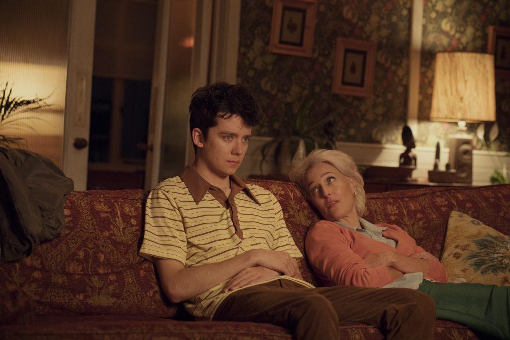 "Asa Butterfield und Gillian Anderson in ""Sex Education"" © Netflix"
