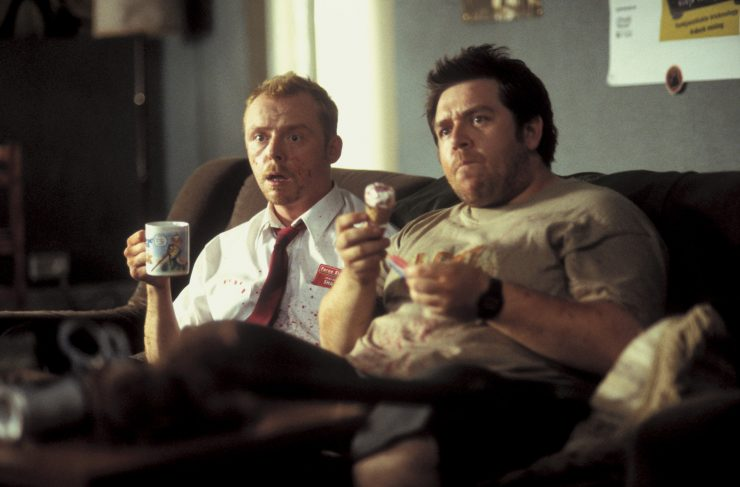 """Shaun (Simon Pegg) und Ed (Nick Frost) in Shaun Of The Dead. """"Shaun of the Dead"""", auf Blu-ray & DVD erhältlich (© Universal Pictures)"""