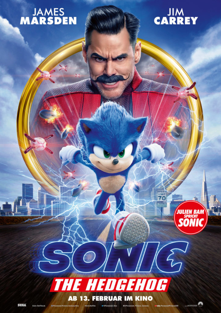 Das Filmplakat zu Sonic the Hedgehog