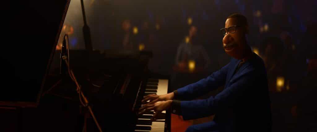 Joe (Jamie Foxx) spielt in Soul in einer feinen Bar als Jazz-Pianist. Diese Traumsequenz zeigt seinen größten Wunsch.