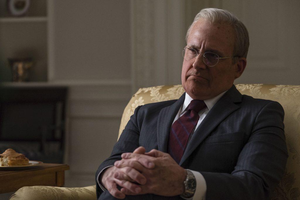Steve Carell als Donald Rumsfeld in Vice - Der zweite Mann @ 2018 Universum Film