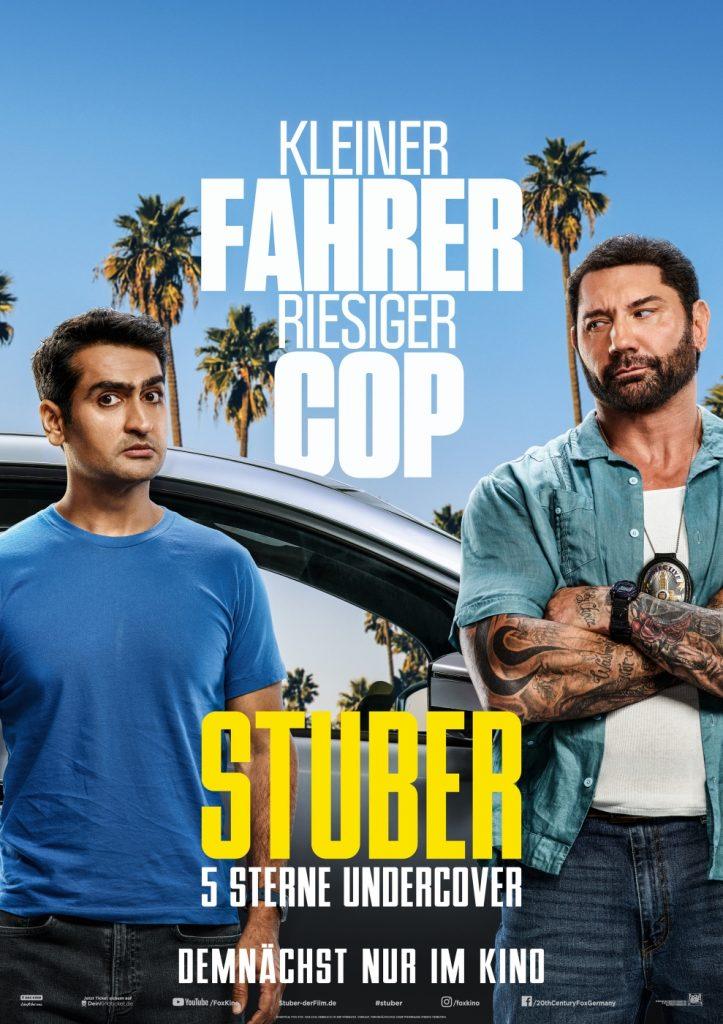Kinoplakat, Stuber - 5 Sterne Undercover
