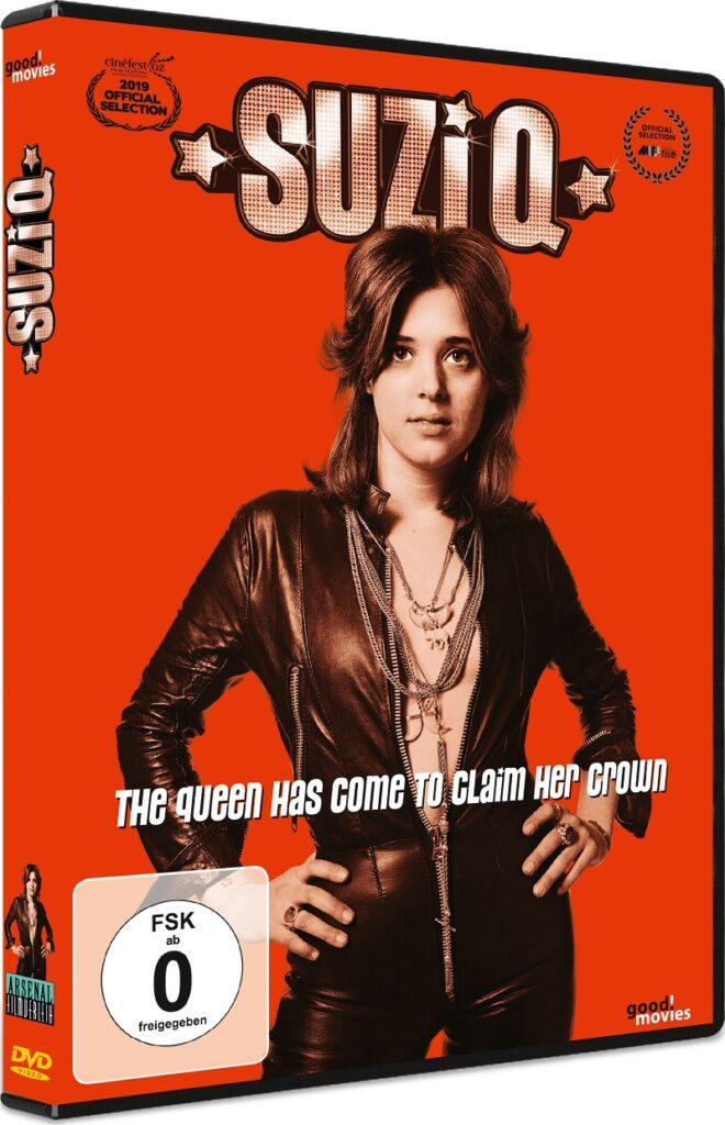 Eine junge Suzi Quatro in Pose auf dem Cover von Suzi Q