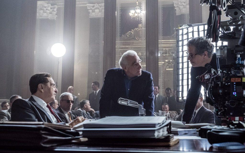 Martin Scorsese und Al Pacino am Set von The Irishman