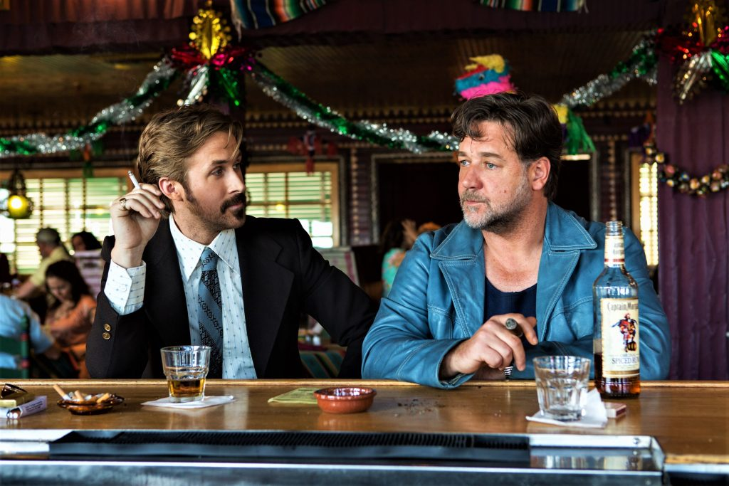 Holland March (Ryan Gosling) und Jackson Healy (Russell Crowe) in The Nice Guys. © Concorde Home Entertainment