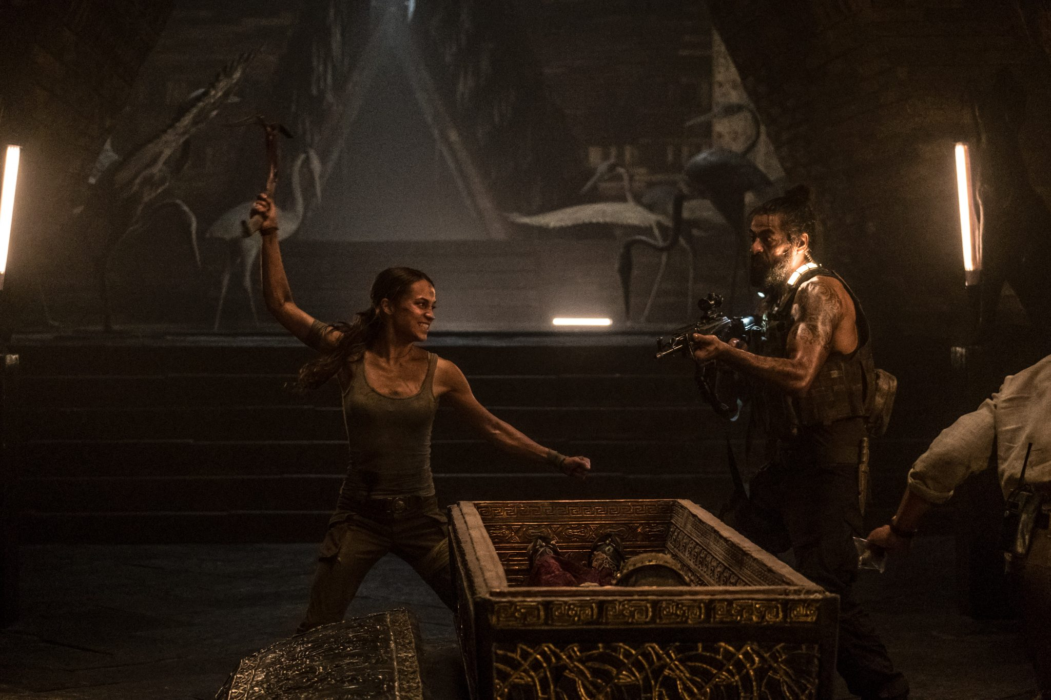 "Der Kampf um Artefakte in ""Tomb Raider"" ©2018 Warner Bros. Entertainment Inc and Metro-Goldwyn-Mayer Pictures Inc."