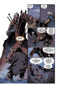 Geralt trifft einen einsamen Jäger in der Wildnis - Alle Bildrechte liegen bei Paninicomics