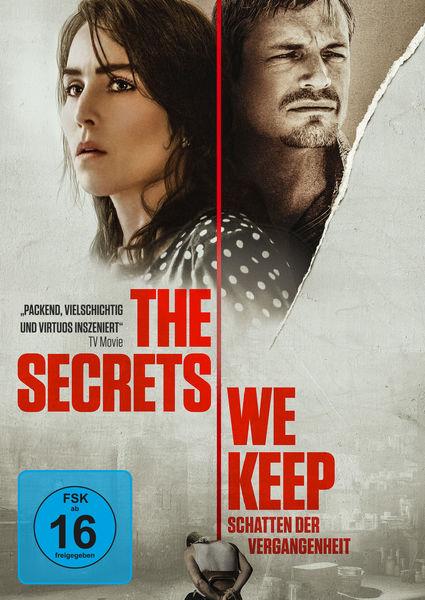 Das Plakat zu The Secrets We Keep zeigt die Portraits der beiden Hauptdarsteller unten klein kniet ihr Gefangener