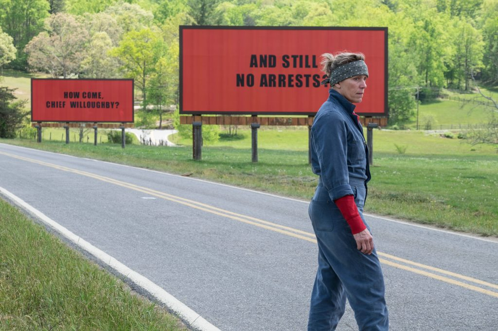 "Frances McDormand als ""Mildred Hayes"" in ""Three Billboards Outside Ebbing, Missouri"" © 20th Century Fox"