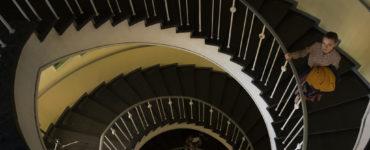 Der Blick auf eine Wendeltreppe