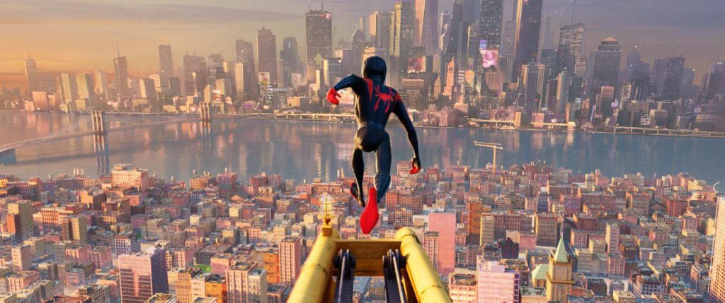 Ultimate Spider-Man und seine Stadt | Spider-Man: A New Universe. Copyright Sony Pictures