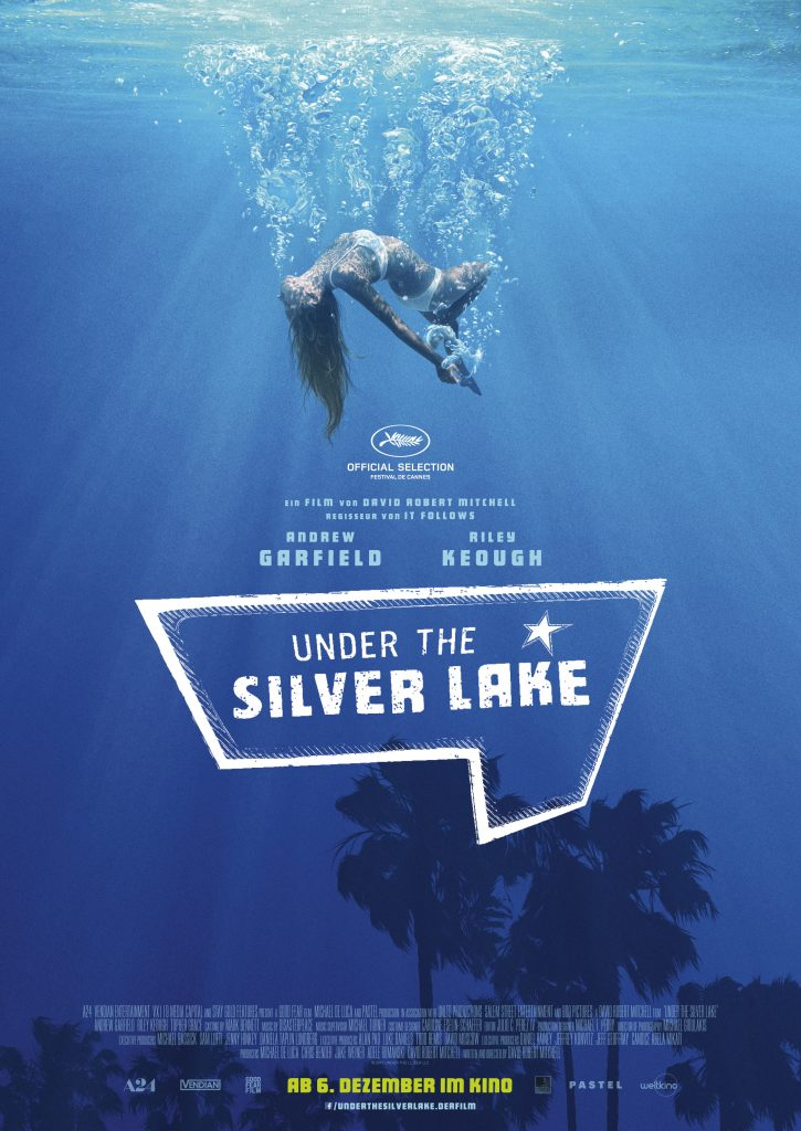 "Plakat zu ""Under the Silver Lake"" © Weltkino"