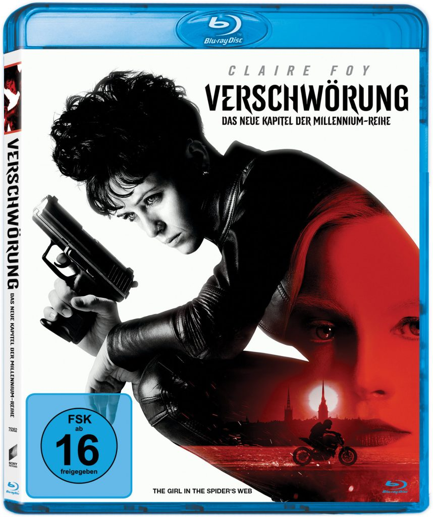 Blu-ray-Cover zu Verschwörung © 2018 Columbia Pictures Industries, Inc., Metro-Goldwyn-Mayer Pictures Inc., Monarchy Enterprises S.a r.l. and Regency Entertainment (USA), Inc. All Rights Reserved.