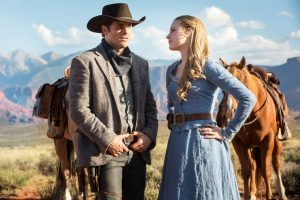 Evan Rachel Wood und James Marsden in Westworld