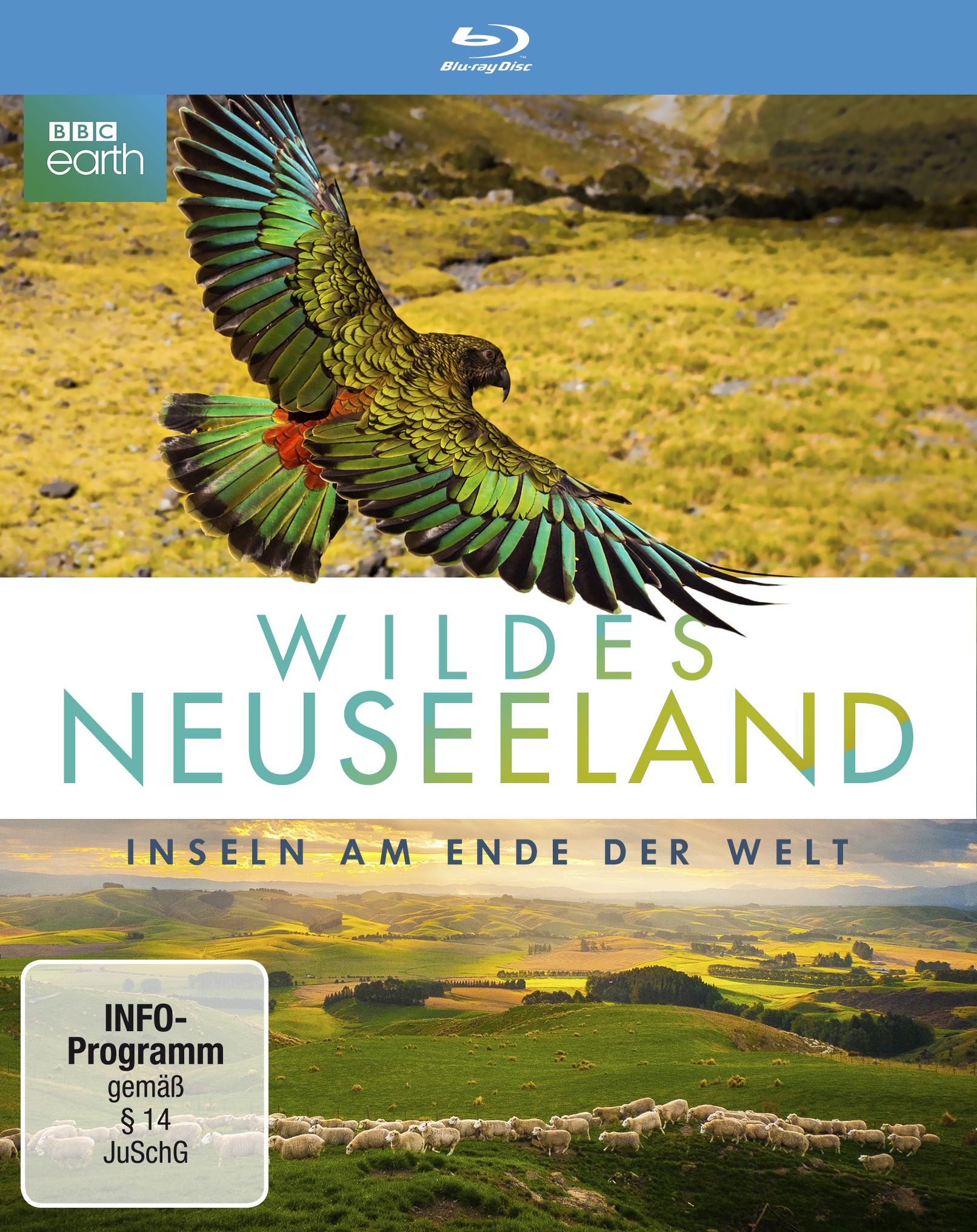 """Offizielles Blu-ray Cover von """"Wildes Neuseeland - Inseln am Ende der Welt"""" © polyband Medien GmbH"""