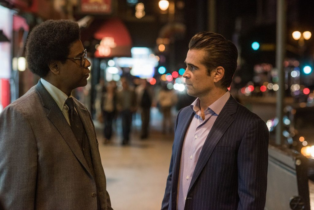 Zwei Welten prallen aufeinander: Roman (Denzel Washington) und George (Colin Farrell) in Roman J. Israel, Esq. © 2018 Sony Pictures Home Entertainment