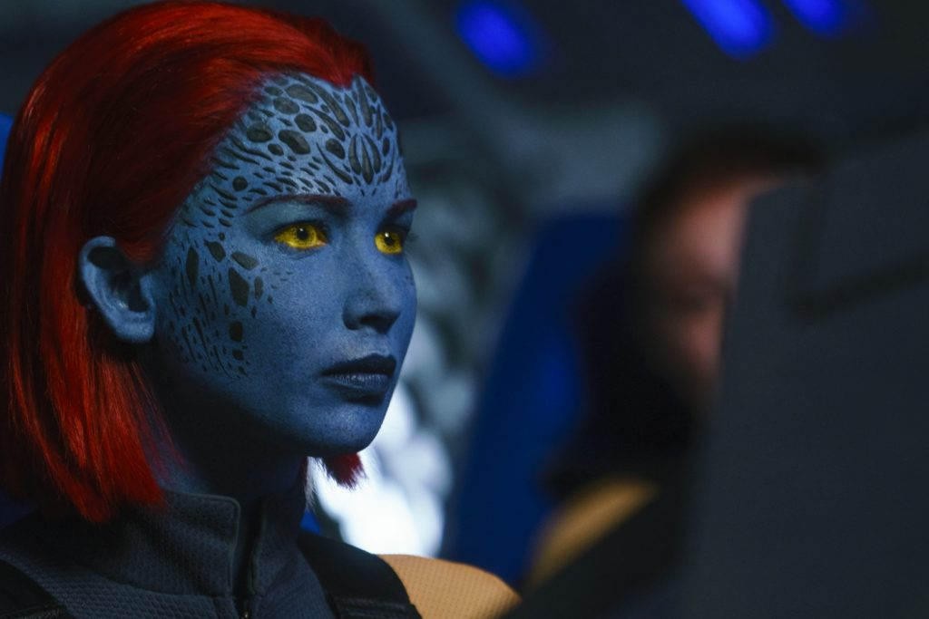 Raven (Jennifer Lawrence) in X-Men: Dark Phoenix. © 2019 Twentieth Century Fox