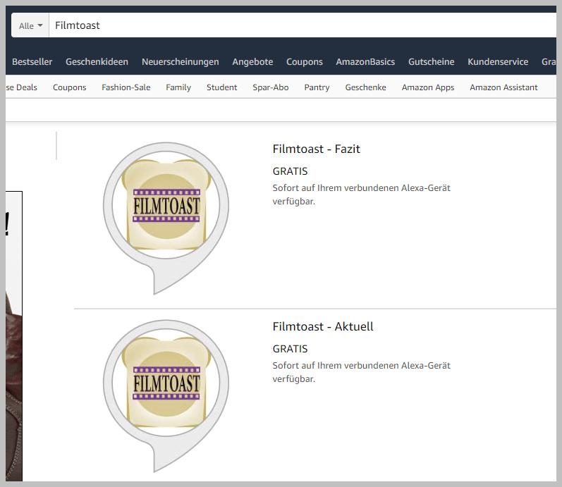 Die Alexa Skills im Amazon-Store