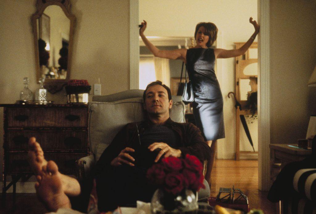 """Lester Burnham (Kevin Spacey) in American Beauty. Irgendwelche Fußfetischsten anwesend...? Quelle: Blu-Ray zu """"American Beauty"""", ©Universal Pictures"""
