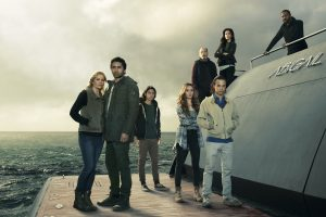 Kim Dickens as Madison Clark, Cliff Curtis as Travis Manawa , Lorenzo James Henrie as Chris Manawa, Alycia Debnam-Carey as Alicia Clark, Rube Blades as Daniel Salazar, Frank Dillane as Nick Clark, Mercedes Mason as Ofelia Salazar and Colman Domingo as Victor Strand in Fear the Walking Dead, Season 2, 2016, gallery, Photo credit: Frank Ockenfels 3/AMC ©Splendid Filmverleih