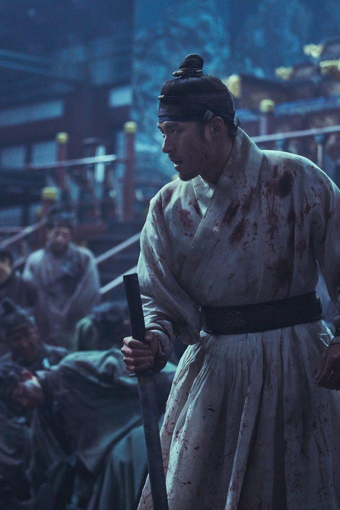 Prinz Lee Chung (Hyun Bin) im Kampf gegen die Zombies