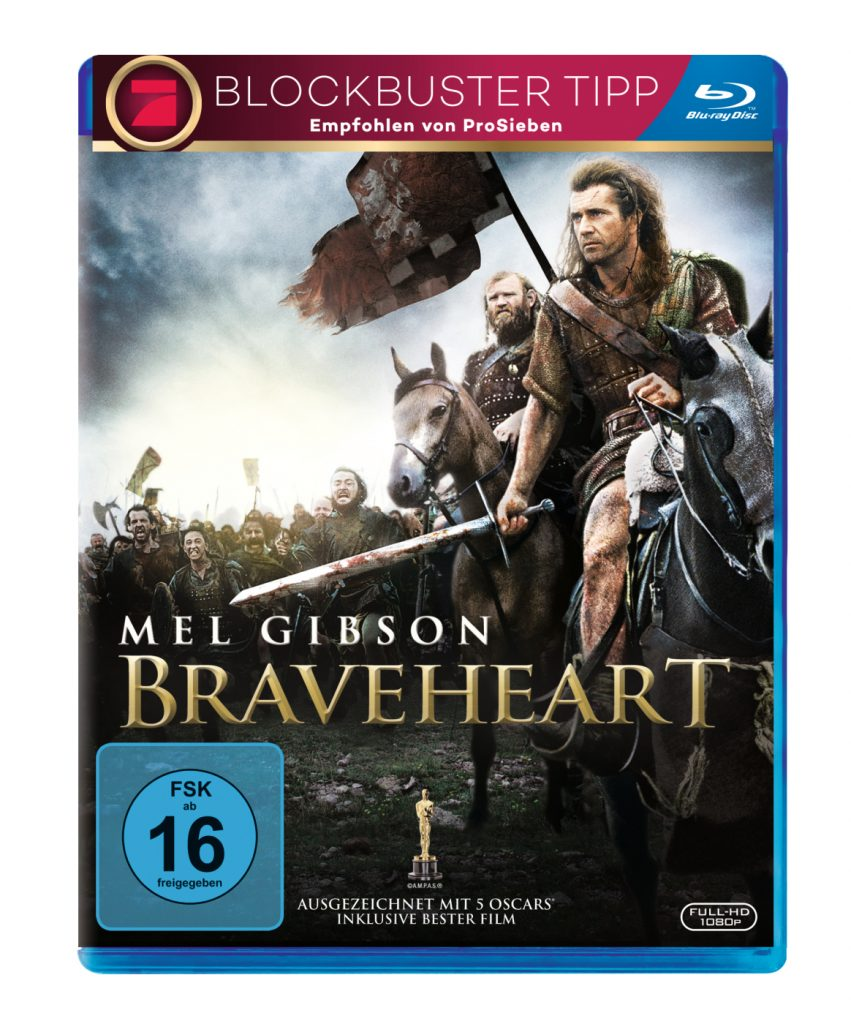 Das Bluray-Cover zu Braveheart von 20th Century Fox