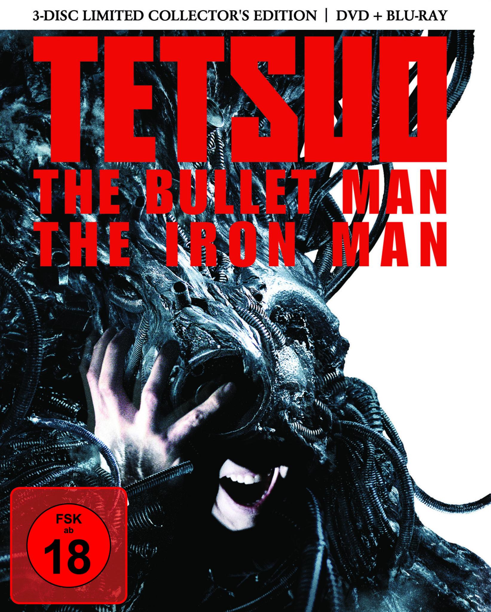 """Filme der 80er: Das Mediabook-Cover von """"Tetsuo - The Iron Man"""" und """"Tetsuo - The Bullet Man""""."""